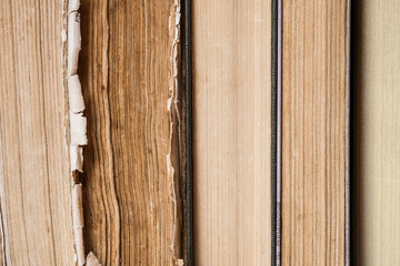 Row of old books background