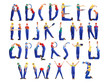 Construction man alphabet