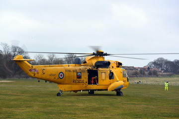 RAF helicopter Search and Rescue Team Bridlington