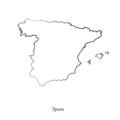 Map of Spain  for your design