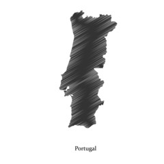 Portugal  map icon for your design