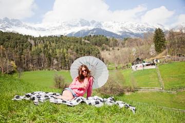 picnic in spring time