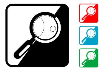 Icono simbolo lupa en varios colores