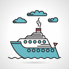 Steamer flat style vector icon