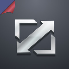 Deploying video, screen size icon symbol. 3D style. Trendy, mode