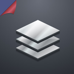 Layers icon symbol. 3D style. Trendy, modern design with space f