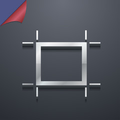 Crops and Registration Marks icon symbol. 3D style. Trendy, mode