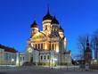 Alexander Nevsky Cathedral in Tallinn in early morning, Estonia