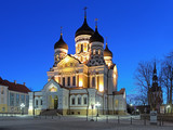 Alexander Nevsky Cathedral in Tallinn in early morning, Estonia