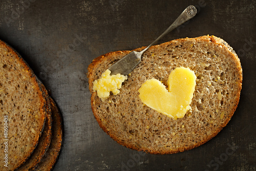 Staande foto Zuivelproducten ghee or melted butter