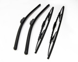 four cars windshield wipers