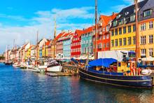 """Постер, картина, фотообои """"Nyhavn, Copenhagen, Denmark"""""""