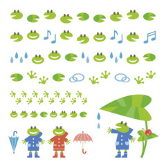 Set of Design of frogs