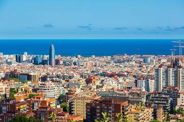 Panoramic view of Barcelona