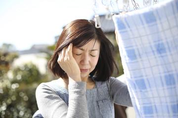 頭痛の主婦