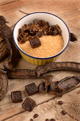 Fruit and candy carob