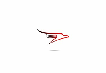 flying eagle, logo hawk, red, wing, falcon template