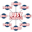 Busy Schedule Jobs Tasks Stressful Working Life To Do LIst