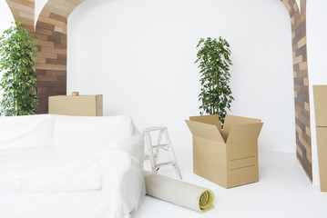 New house, moving, furniture
