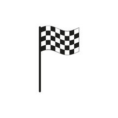 The checkered flag icon. Finish symbol. Flat