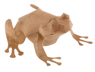 Eco Friendly Brown Paper Frog