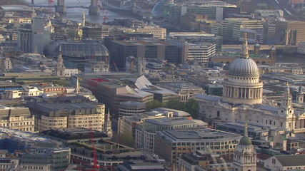 Aerial view over St. Paul's Cathedral, London