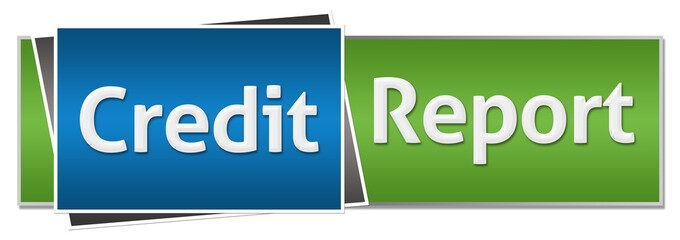 Credit Report Green Blue