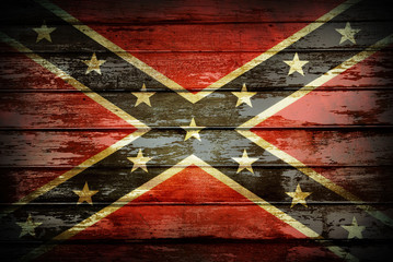 Confederate flag on boards