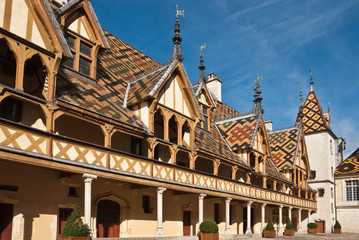 Famous hospice in Beaune, France