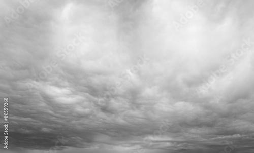 Leinwandbild Motiv Grey overcast sky