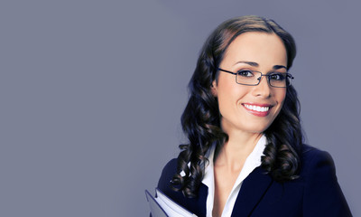 Young businesswoman in glasses