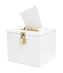 Ballot box and vote paper