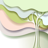 Fototapety Abstract spring tree