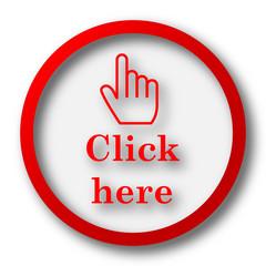 Click here icon
