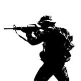 Black silhouette of a sniper scope from a vending machine
