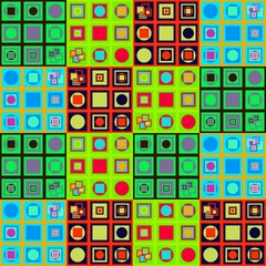 Abstract colorful variable pattern in op art style