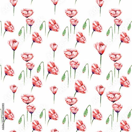 White Poppy Pattern - 80562083
