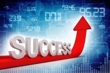 Success Arrow 3D