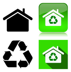 Environmentally Sustainable Building Icon Collection