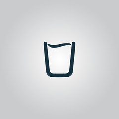 vector glass of water icon