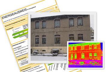Wärmebild von einem Haus für den Energieausweiß