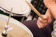 closeup shot of musician playing drums - 80564243