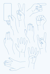 vector set Hands Icons - Illustration
