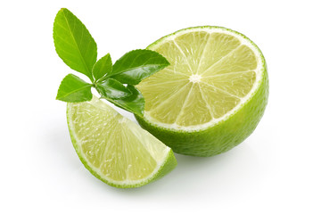 Half Lime, slice lime and leaves
