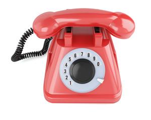 Red classic telephone