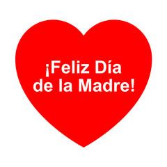 Icono texto feliz dia de la madre en corazon