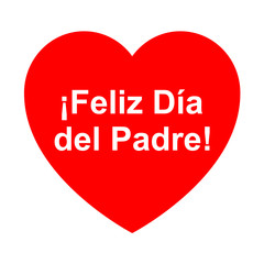 Icono texto feliz dia del padre en corazon