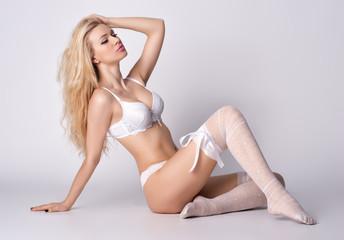 Girls in erotic lingerie posing