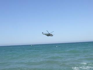 Elicottero in esibizione ad un airshow