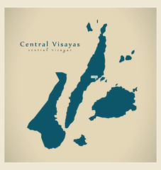 Modern Map - Central Visayas PH
